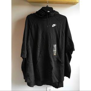 New black nike poncho size M